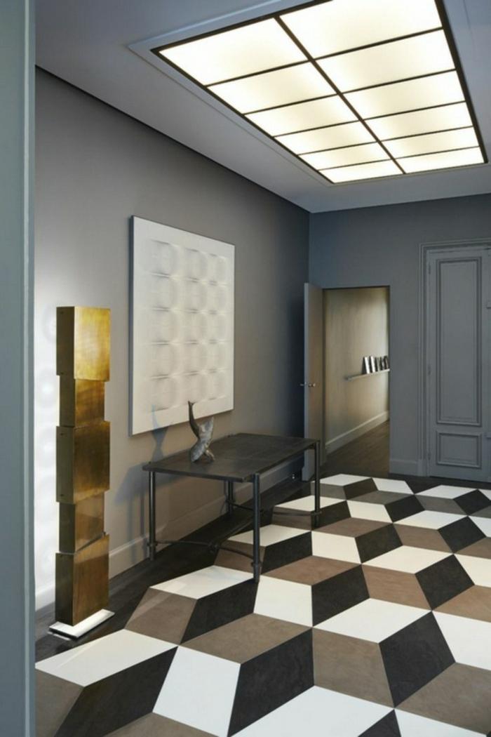 einrichtungsbeispiele wohnideen dekoideen geometrie farbe smart klare textur wand aufleber escher