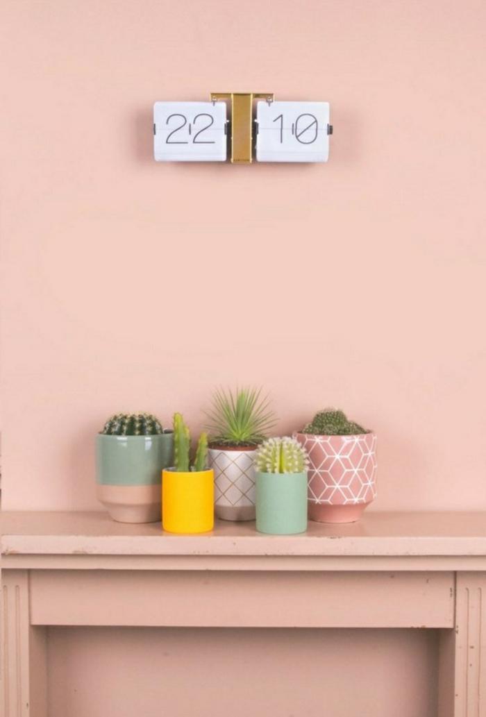 einrichtungsbeispiele wohnideen dekoideen geometrie farbe smart klare textur wand aufleber toninton