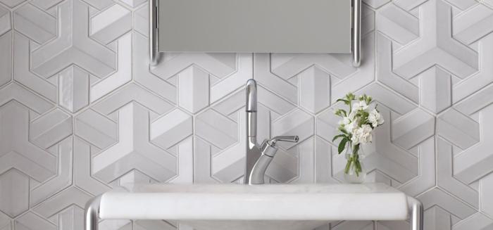 einrichtungsbeispiele wohnideen dekoideen geometrie farbe smart klare textur wand aufleber wandgestaltung-bad