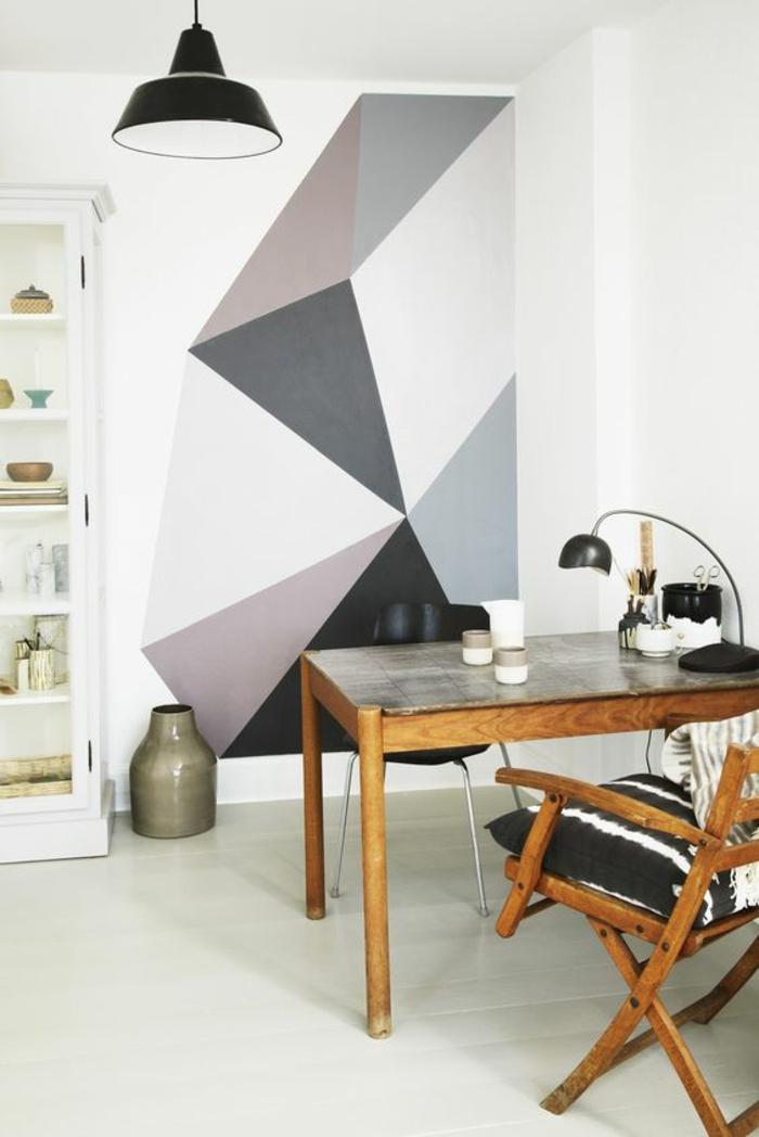 wohnideen dekoideen geometrie farbe smart klare textur wand mutig