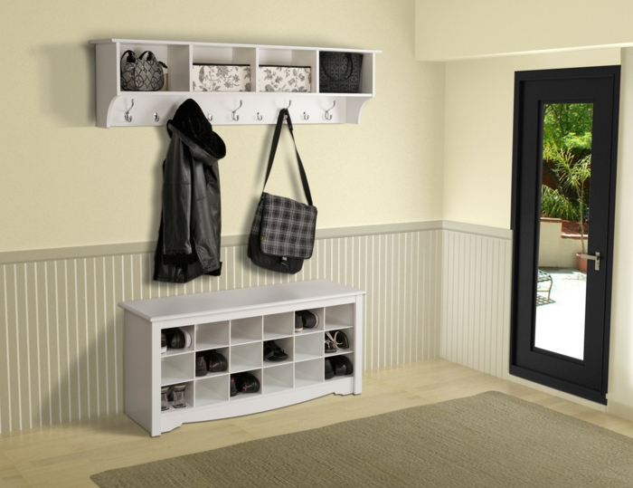 flur gestalten 66 einrichtungsideen f r den flur. Black Bedroom Furniture Sets. Home Design Ideas