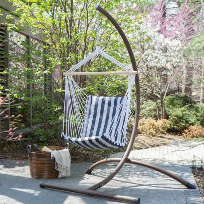 h ngesessel garten und garten h ngematte 60 ideen wie sie die perfekte erholungsoase schaffen. Black Bedroom Furniture Sets. Home Design Ideas