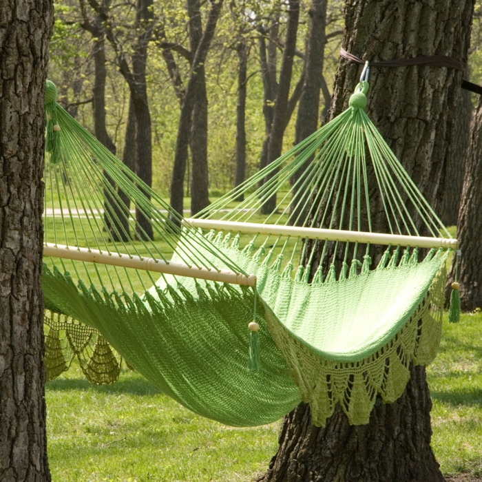 garten hängematte grün fein modern design