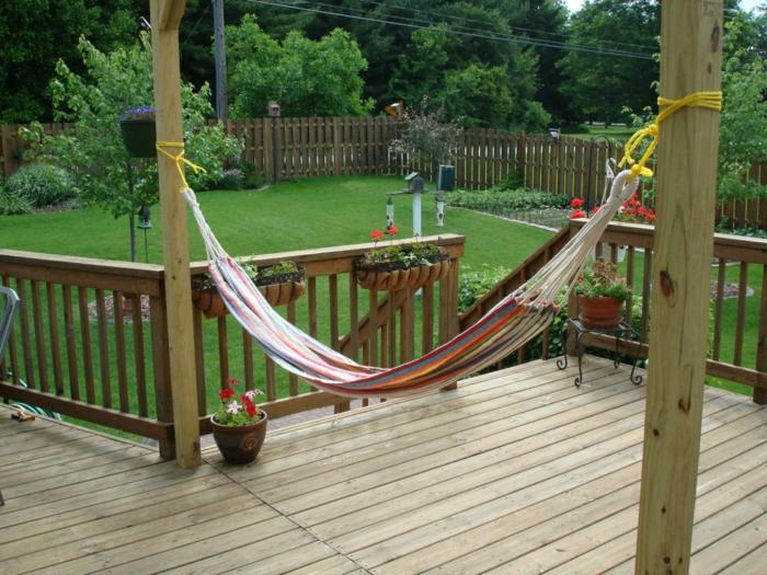 garten hängematte selber machen veranda