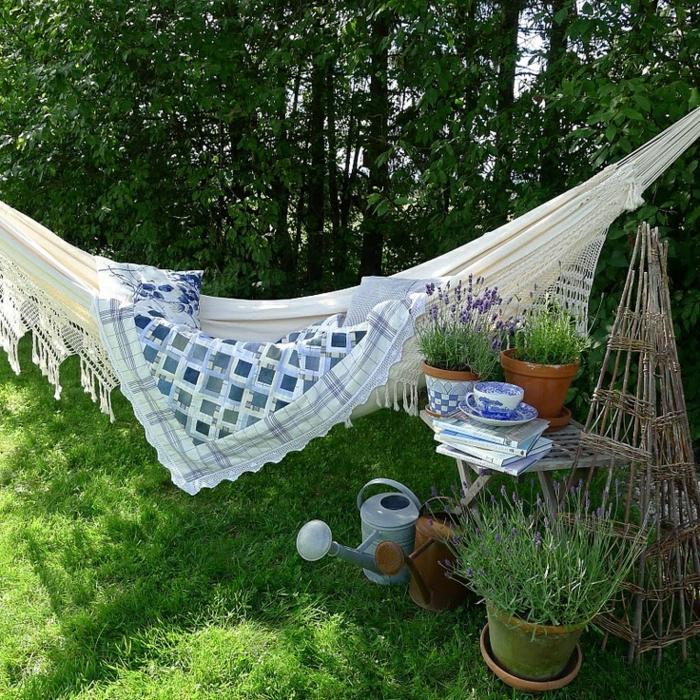 garten hängematte sich zurückziehen sich entspannen gartenbereiche