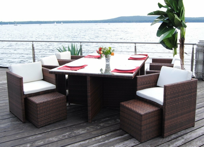 garten loungemöbel polyrattan sitzgruppe boreas braun