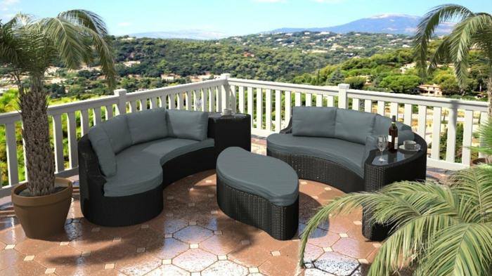 garten loungemöbel rattaninsel yamelia schwarz