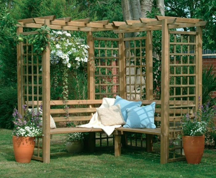 garten pergola gestalten 50 ideen f r ihre sommerliche gartengestaltung. Black Bedroom Furniture Sets. Home Design Ideas