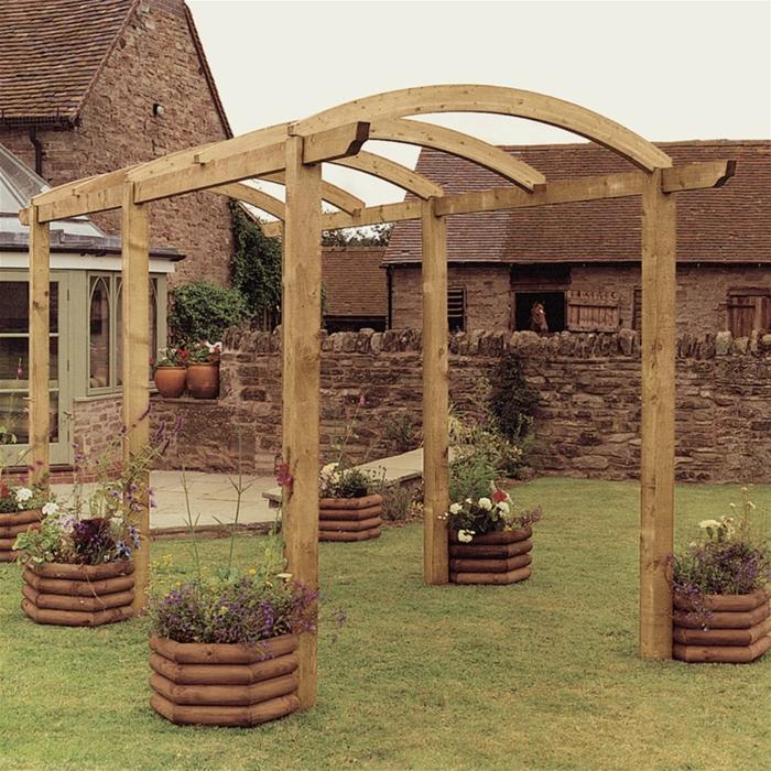 Garten pergola gestalten 50 ideen f r ihre sommerliche for Gartendeko idee