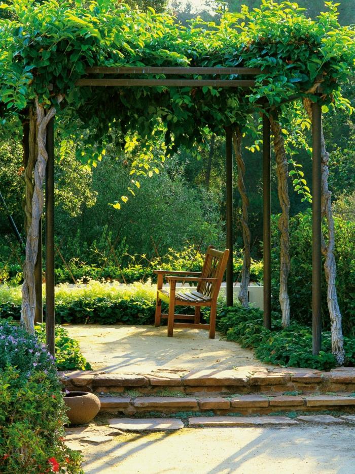 Gartengestaltung tipps wie sie licht und schatten im - Gartengestaltung pergola ...