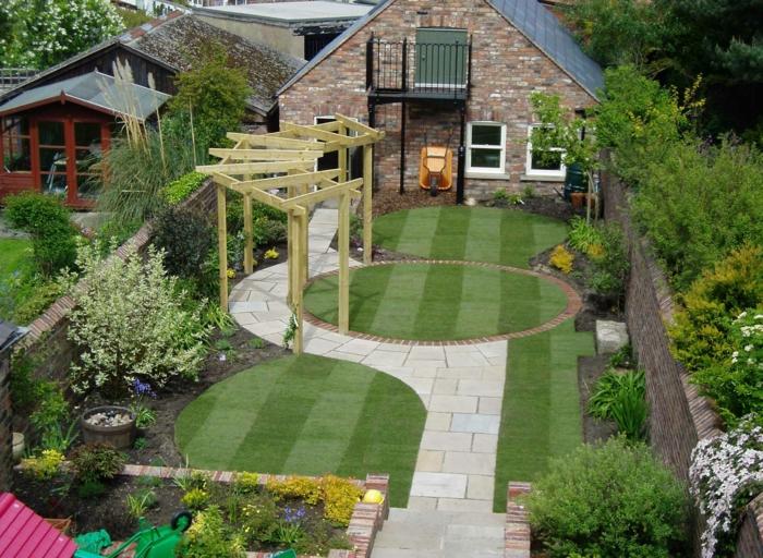 Garten pergola gestalten 50 ideen f r ihre sommerliche gartengestaltung - Gartenweg bauen ...