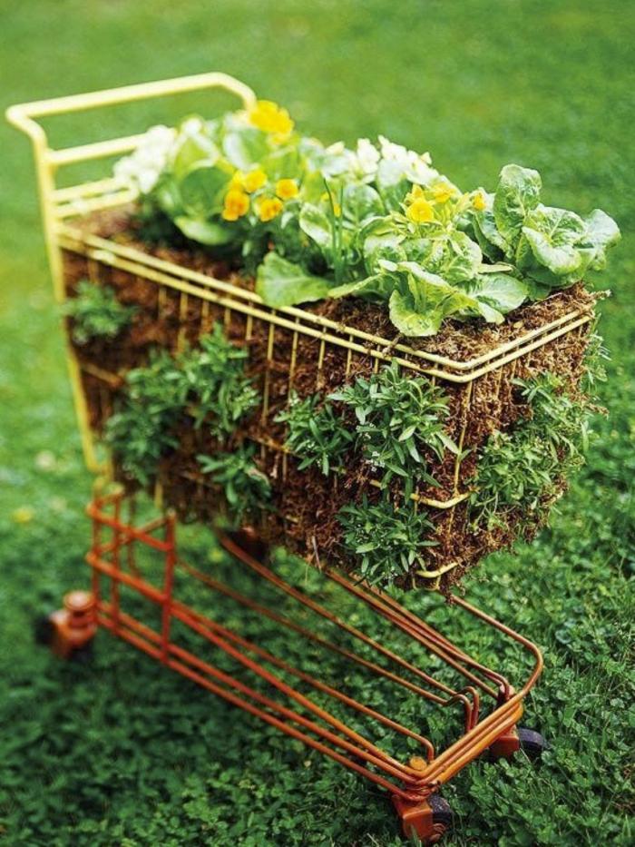 gartenideen pflanzenbehälter garten pflanzen