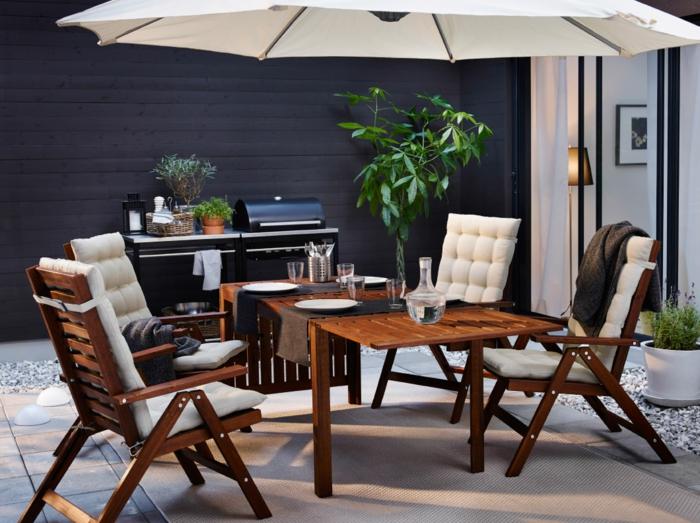 gartenmöbel design gartenmöbel set teppich sonnenschirm