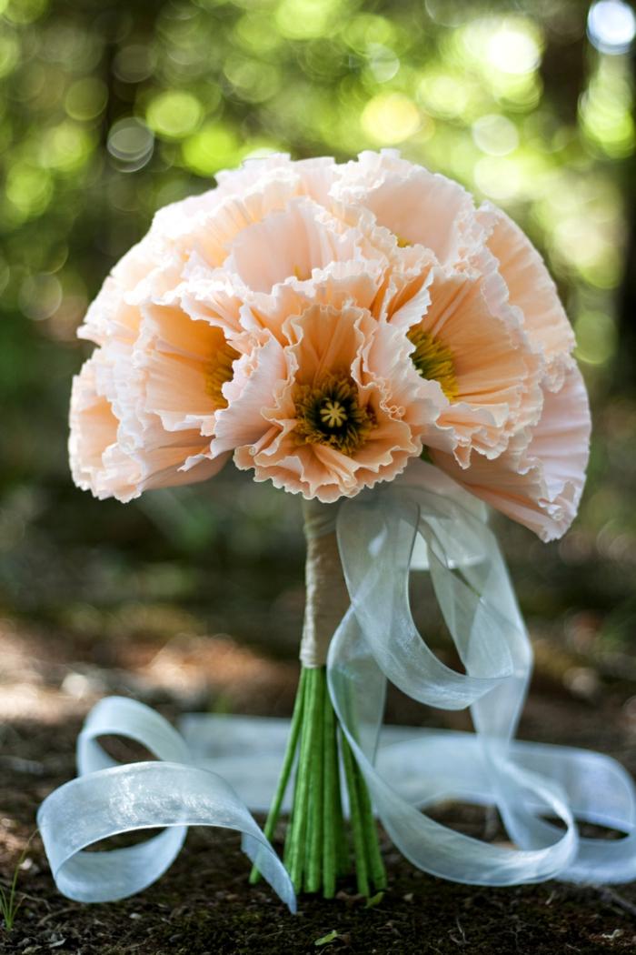 geschenke selber basteln papierblumen blumenstrauß