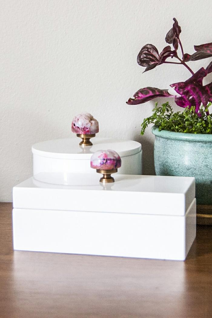 geschenke selber basteln schmuckbox machen weiß elegant