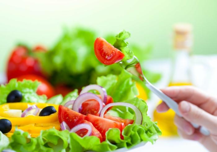 gesund abnehmen diabetis richtige ernährung gemüse salate