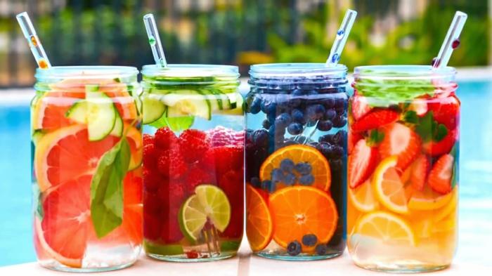 gesund leben dehydrierung wasser gesunde getränke selber machen detox rezepte