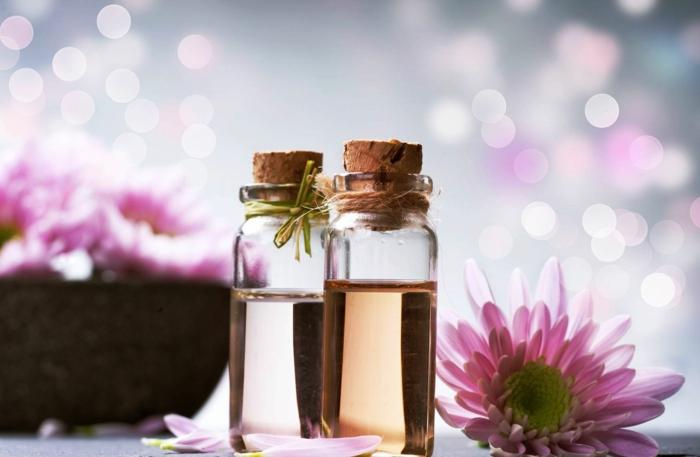 gesund wohnen badewanne badeöle selber zubereiten