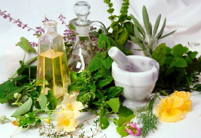gesund wohnen badewanne detox kur kräuter gewürze