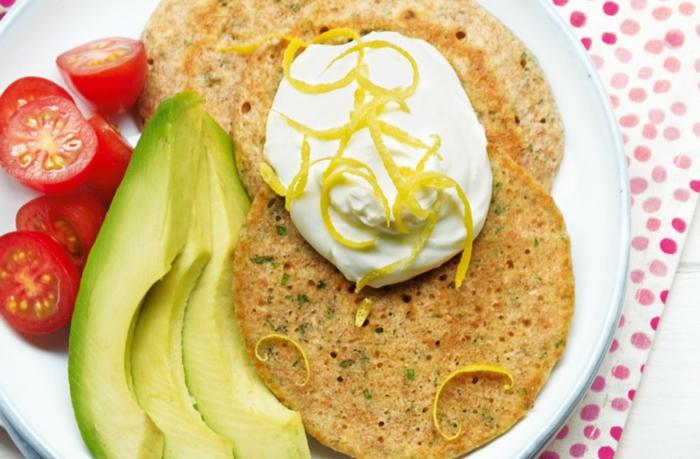 gesunde ernährung pfannkuchen mango limette