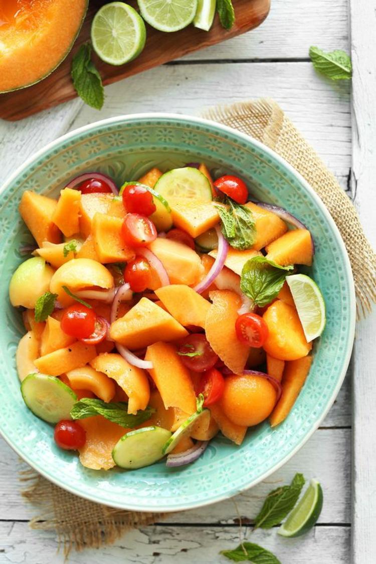 gesundes Essen Sommer Ideen Obstsalat