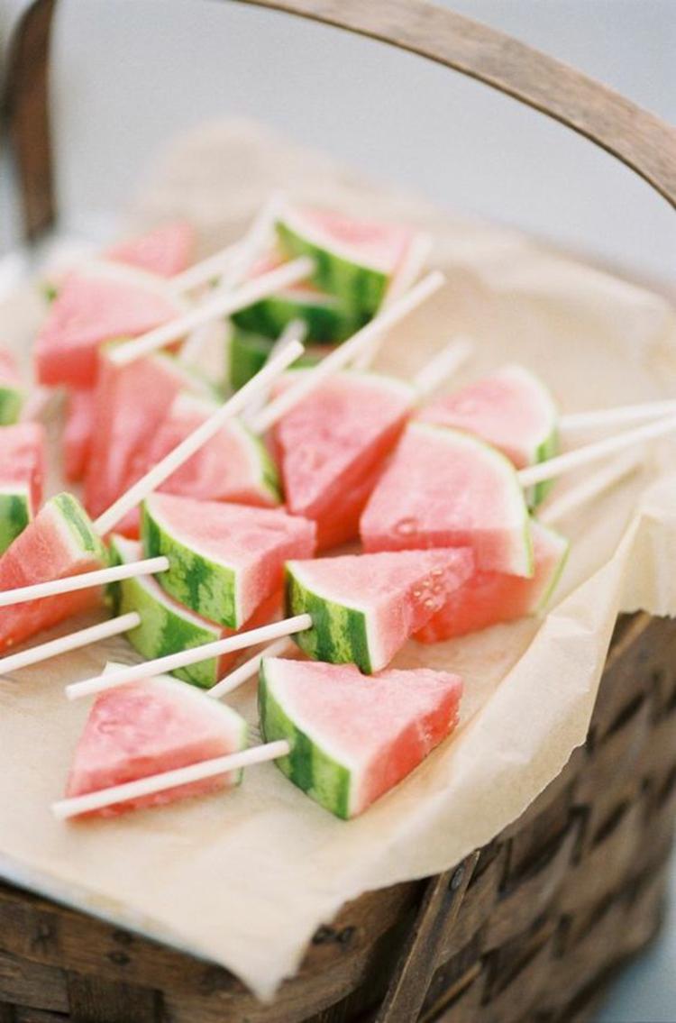 gesundes Essen Sommer Ideen Wassermelone