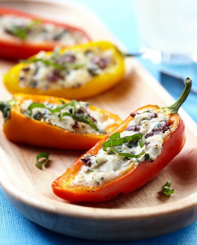 gesundes Essen Sommer Ideen gefüllte Paprikaschoten