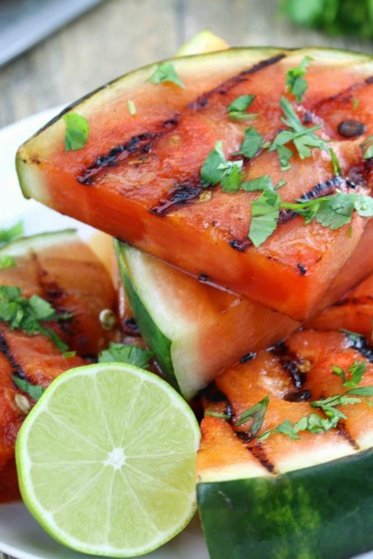 gesundes Essen gegrillte Wassermelone Grillrezepte