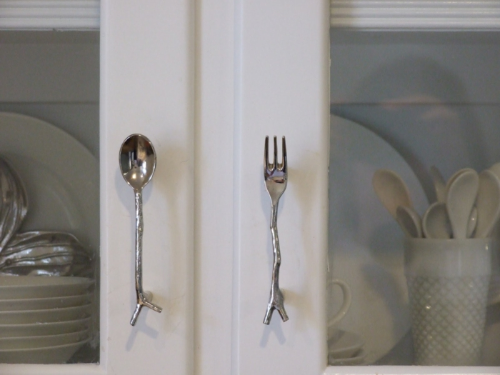 griffe für küchenschränke ausgefallene ideen besteck