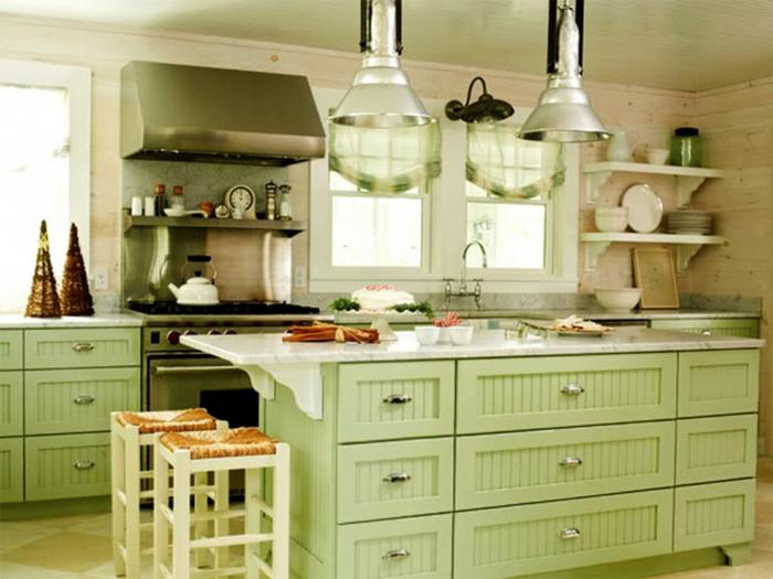 griffe für küchenschränke grüne schränke kücheninsel hängelampen