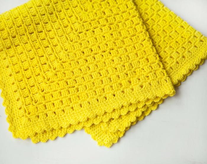 häkelmuster gelbe decke wohnideen diy ideen