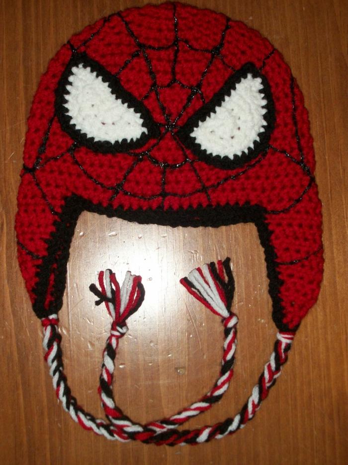 häkelmuster mütze häkeln spiderman mode trends