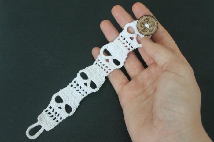 häkeln ideen schmucksachen häkeln armband diy
