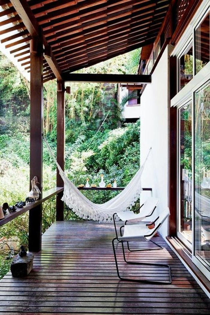 hängematte balkon außenbereich gestalten sessel