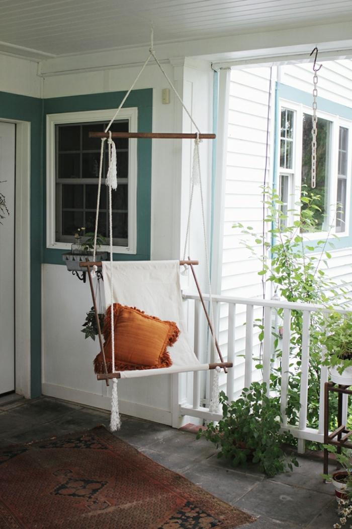 hängesessel garten diy ideen veranda