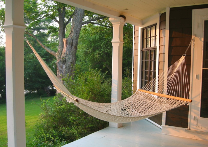 hängesessel garten hängematte veranda außenbereich gestalten