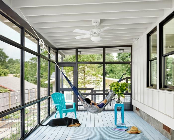 hängesessel garten hängematte veranda ideen