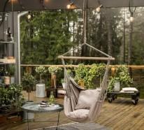 Hängesessel Garten und Garten Hängematte – 60 Ideen, wie Sie die perfekte Erholungsoase schaffen