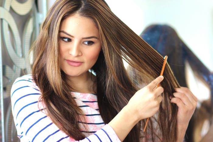 haarkur selber machen haarpflegetipps eier waschen kämmen glatte haare