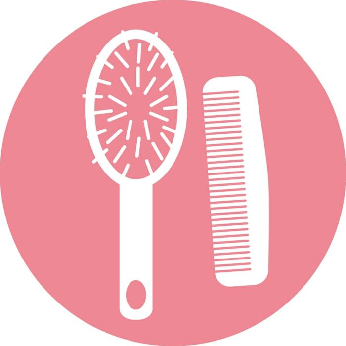 haarpfleg tipps shampoo maske glatt lang lang bürste kamm