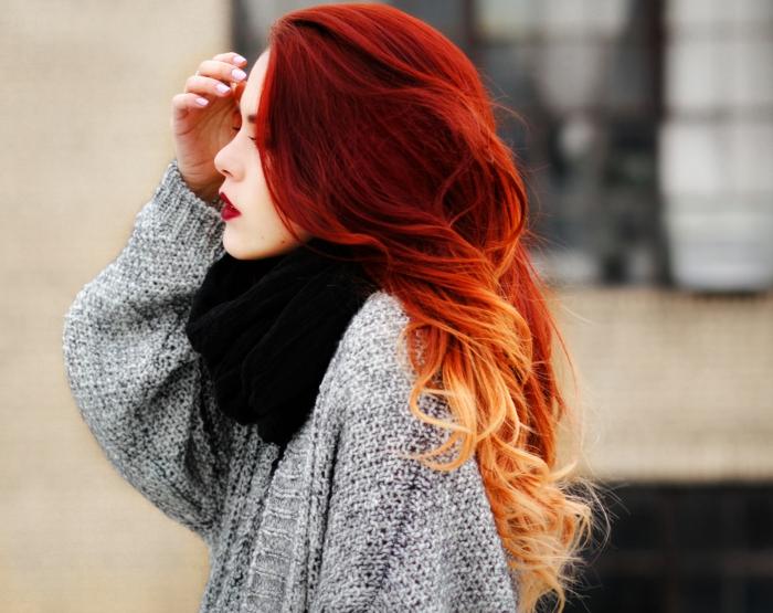 haarpfleg tipps shampoo maske glatt lang lang färbung