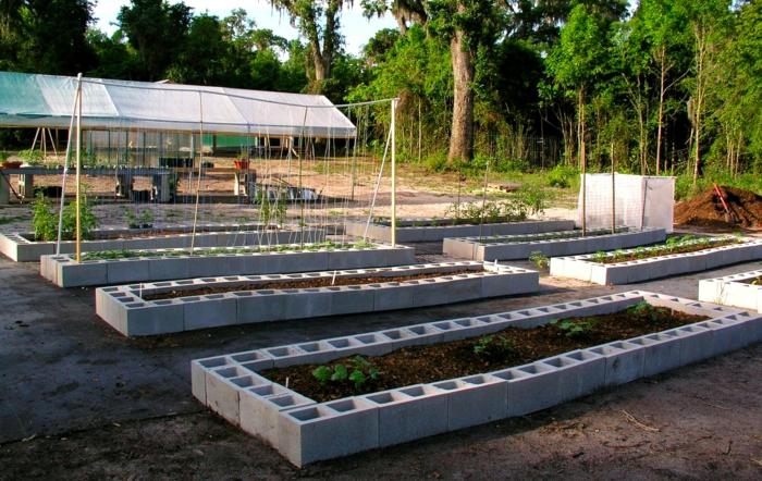 hochbeet bauen beflanzen gartenideen diy ideen holz vorgarten weg blumenbeet bausteine