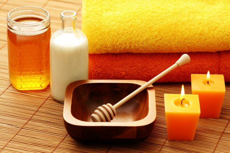 ist Honig gesund Massage Honig Wirkung volle Entspannung