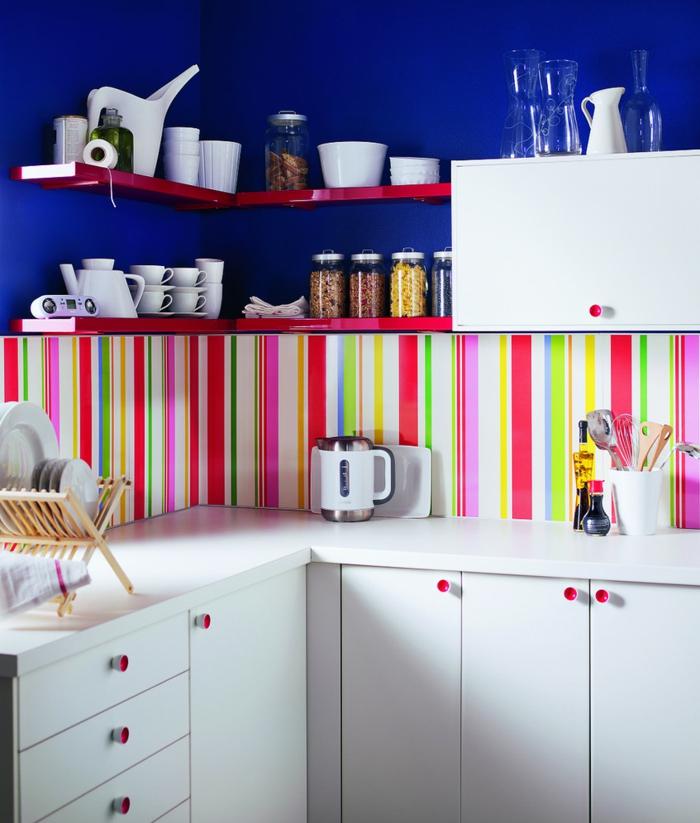 küchengestaltung idee einrichtungsbeispiele deko ideen küche farbgestaltung bunt
