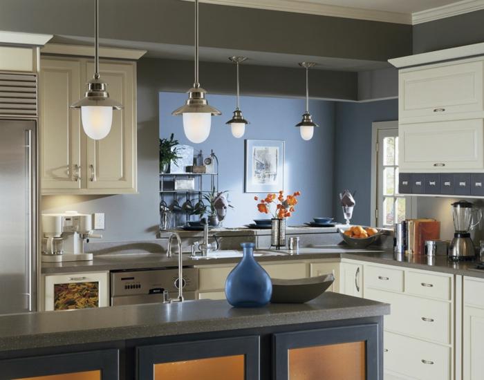 küchengestaltung idee einrichtungsbeispiele deko ideen küche farbgestaltung cobalt