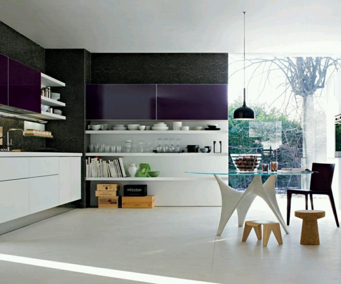 küchengestaltung idee einrichtungsbeispiele deko ideen küche farbgestaltung design