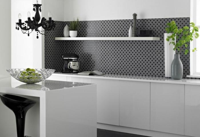 küchengestaltung idee einrichtungsbeispiele deko ideen küche farbgestaltung elegant