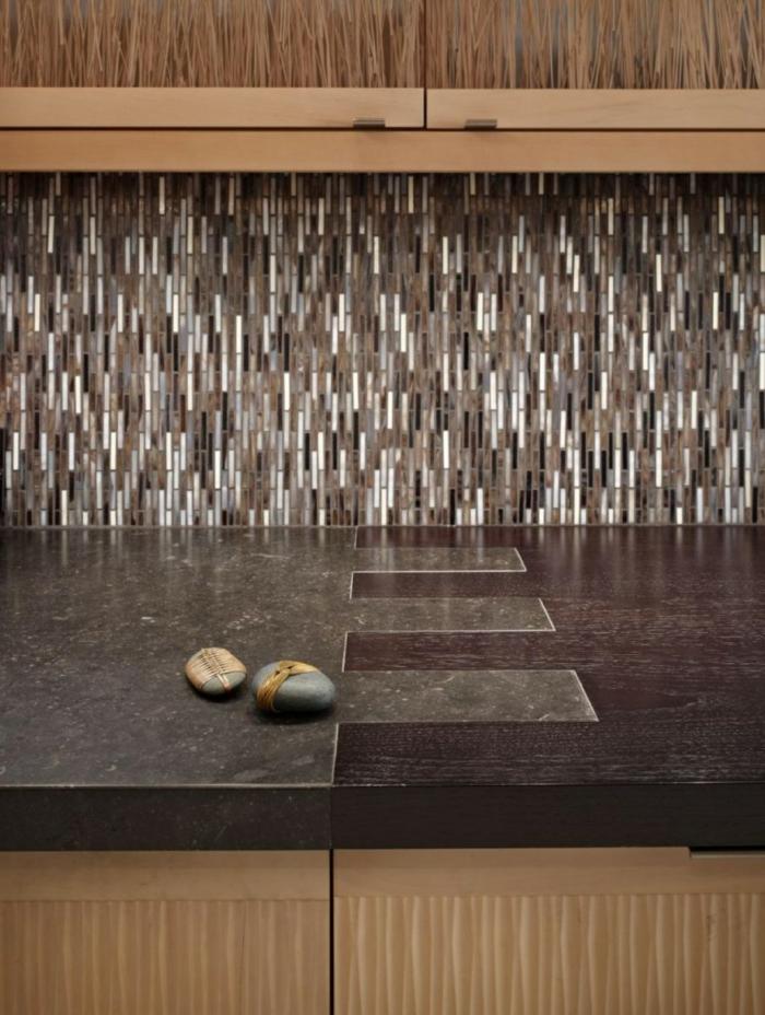 küchengestaltung idee einrichtungsbeispiele deko ideen küche farbgestaltung feinsteinzeugfliesen