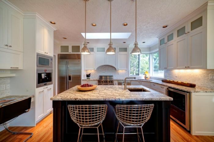 küchengestaltung idee einrichtungsbeispiele deko ideen küche farbgestaltung hell2