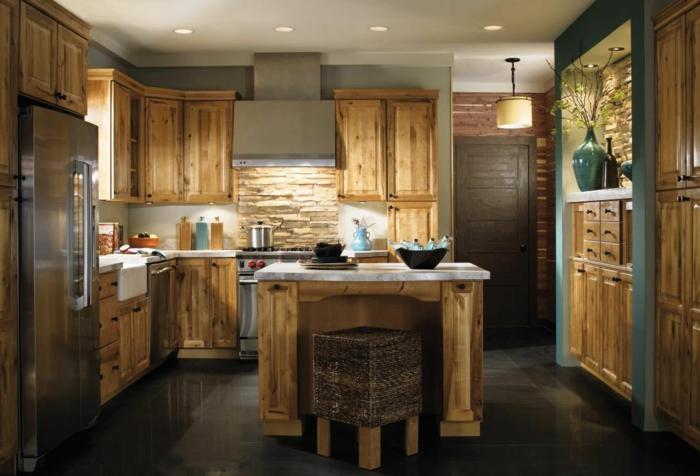 küchengestaltung idee einrichtungsbeispiele ideen küche farbgestaltung holz